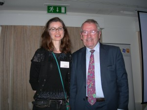 Dr Carmel Parnell winner of the O'Mullane prize with Professor O'Mullane