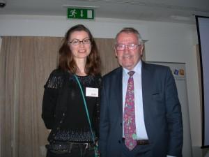 Dr Carmel Parnell winner of the O'Mullane prize with Professor O'Mullane