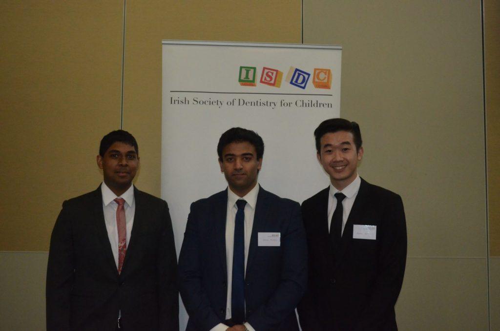 O' Mullane prize winners Usman Hussain, Adeen Solaiman and Jia-Liang Eow